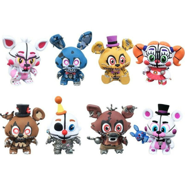 Five Nights At Freddy's Bonnie Foxy Game 8 PCS Action Figure Kids Toy Doll Gift