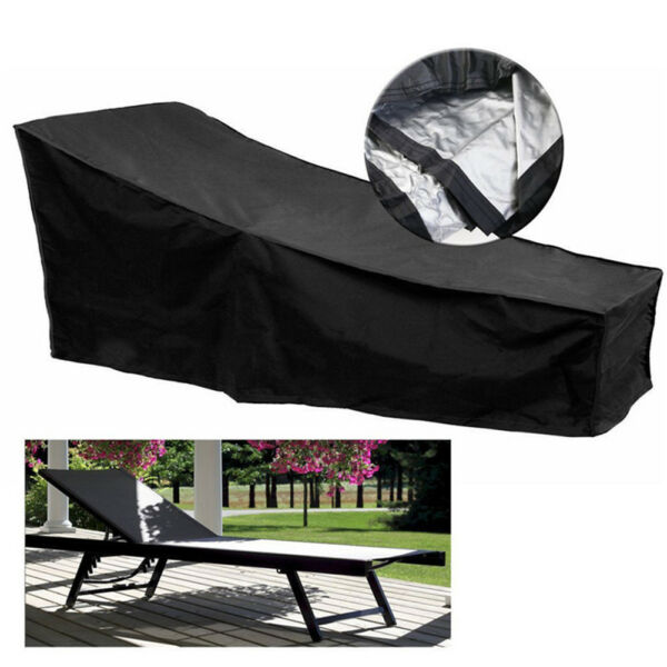 Waterproof Lounge Chair Chaise Cover Outdoor Dustproof Patio Furniture Protectio