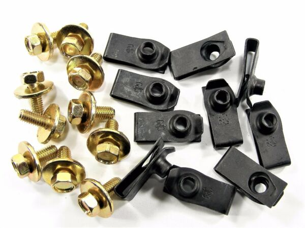 Mopar Body Bolts & U-nut Clips- M6-1.0 x 16mm Long- 10mm Hex- 20 pcs (10ea) #149
