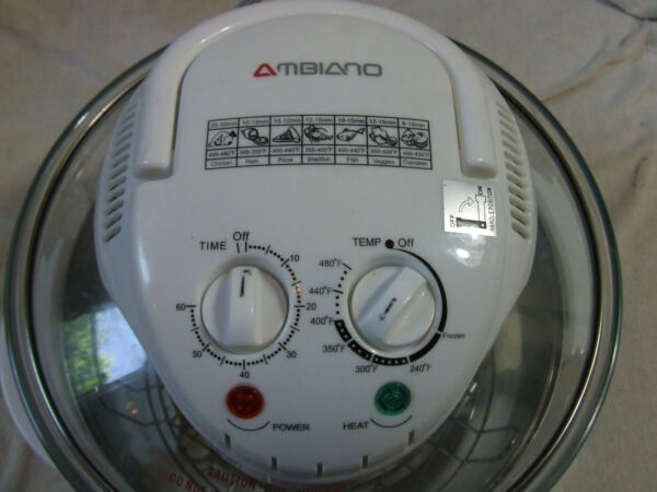 Ambiano Turbo Convection Counter Oven Glass Cooker CK A15