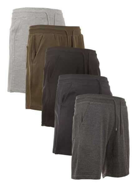 Men's Sweat shorts With Pockets Slim-Fit French Terry Fleece Lounge Gym Workout