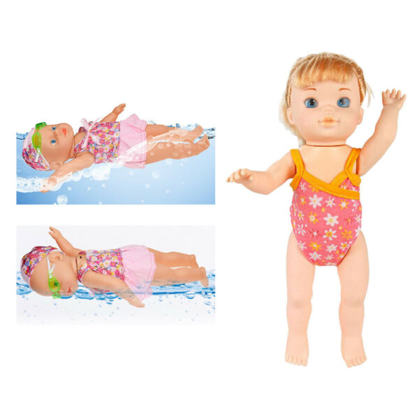 Swimming Doll Swim in Water Moveable Joints Pools Baby Interactive Dolls