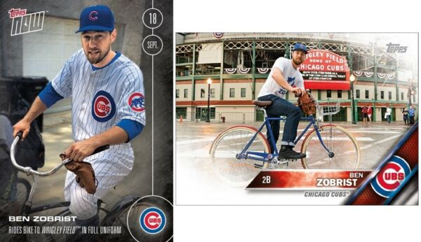 2016 TOPPS NOW #475 BEN ZOBRIST RIDES BIKE TO WRIGLEY FIELDS EXCLUSIVE CARD $17.99