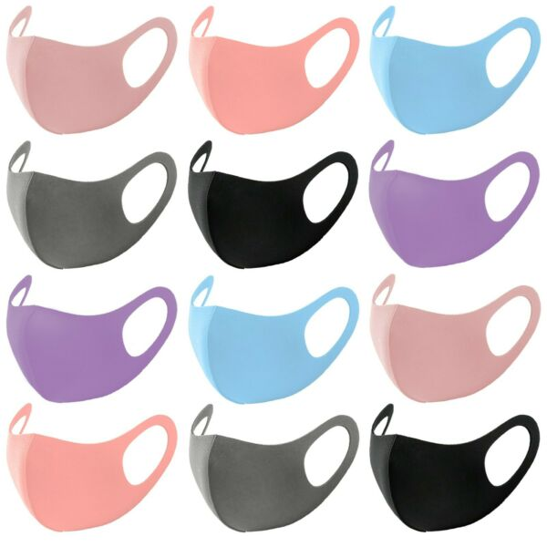 1-5 PACK NEW Fashion 3D Face Mask Lightweight Washable Reusable - Light Colors!  $5.99