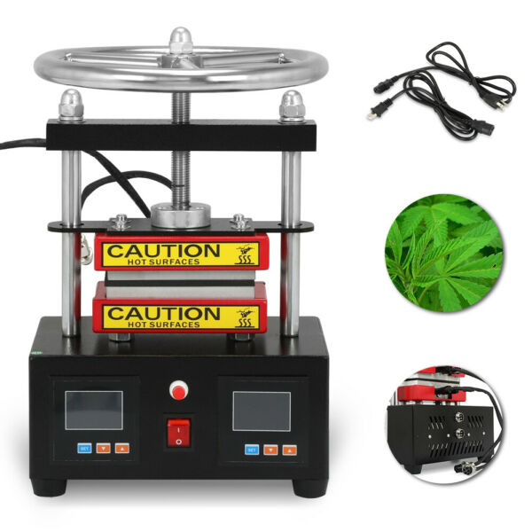 500W 110V CK220 Duel Heated Plates Hand Crank Pro Rosin Press Machine 2000+PSI