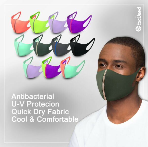 2 Pack Face Mask Quick Dry Tech Reusable Washable Protection Cover Breathable $9.99