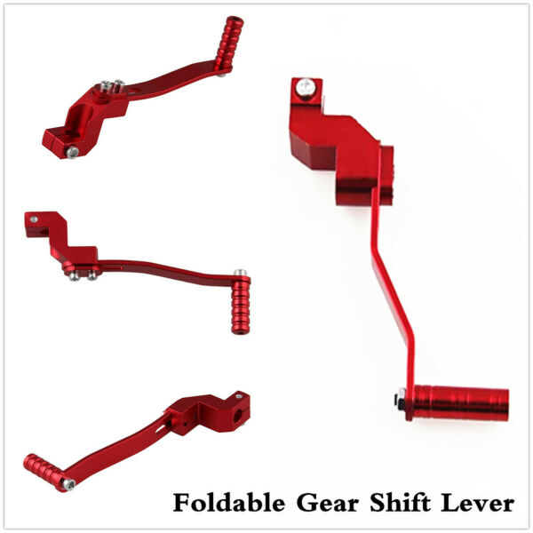 Motorcycle Red Aluminum Folding Shifter Gear Shift Lever Accessories Universal $10.70