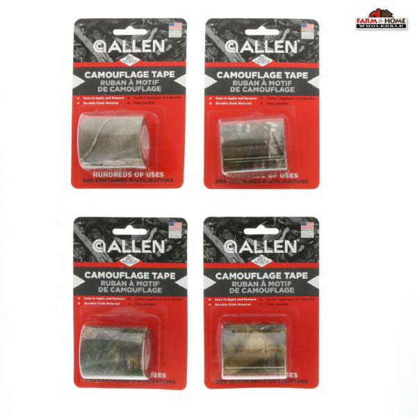 4 Allen 2quot; x 10#x27; Camouflage Tape Cloth Realtree Xtra NEW $19.88