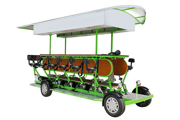 15 Person Custom Pedal Bar Party Bike Pubcycle Beer Bike w LEDs Sound Signage