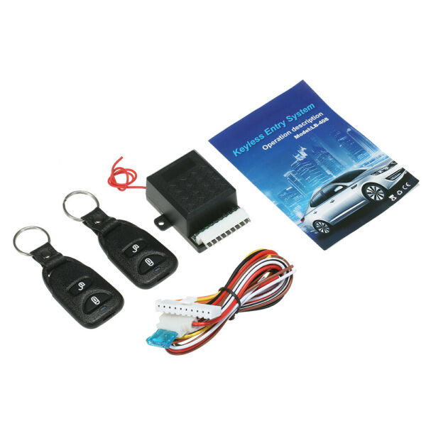 Universal Car Remote Central Kit Door Lock Keyless Entry System w 2 Controller $11.59