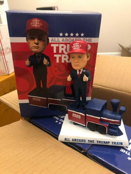 Donald Trump 2020 All Aboard The Trump Train Bobblehead Bobble Head NEW In Box $19.95
