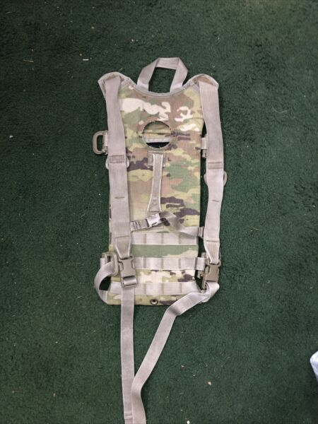 Multicam Hydration Backpack Water Carrier System Army 100oz Pack with new tube $14.00