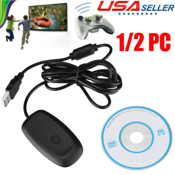 For PC Xbox 360 Gaming USB Wireless Receiver Adapter Game Controller Windows US
