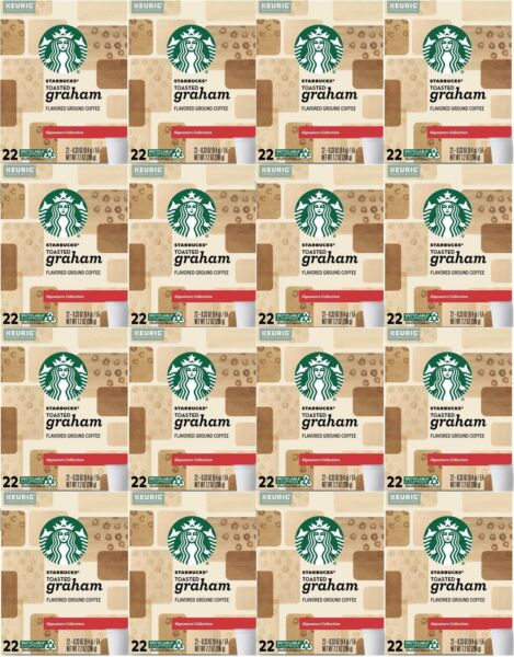 HUGE LOT 352 Starbucks K Cups Toasted Graham 16 boxes x 22 CT Best By 6 2020