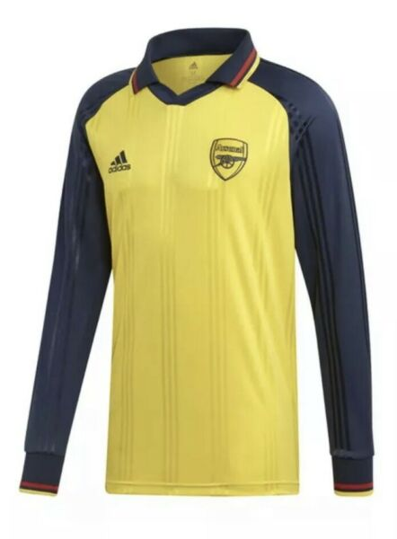 Mens Adidas Arsenal Icons Long Sleeve Retro jersey Large New With Tags