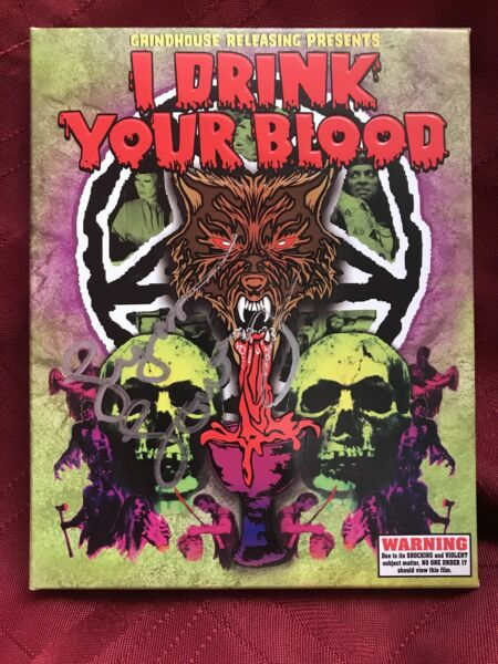 I Drink Your Blood 2xBlu Ray Vinegar Syndrome Cut Grindhouse SIGNED Lynn Lowry