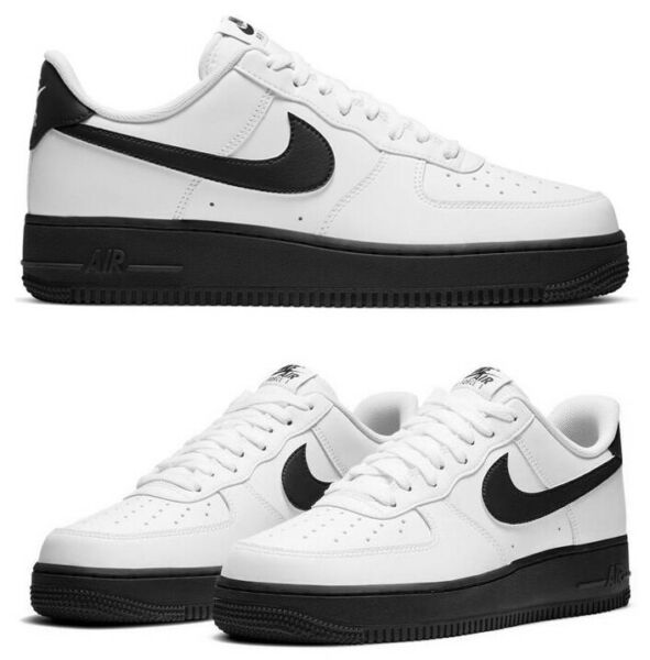 New NIKE Air Force 1 Low Leather Athletic Sneaker Shoes Mens white black all siz