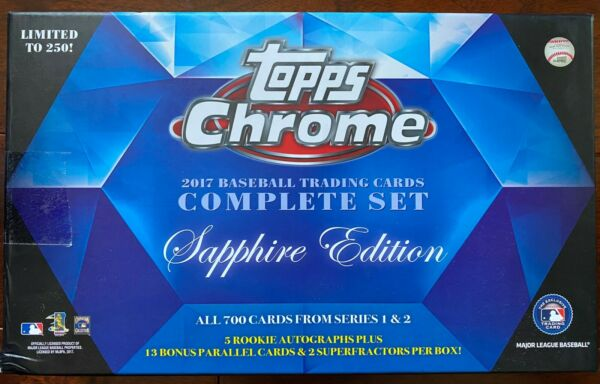 2017 Topps Chrome Sapphire Pick Your Player 1-199 Only 250 of Each Card Made