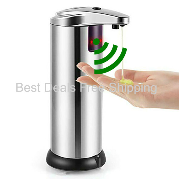 Automatic Soap Dispenser【2020 New Version】Sanitizer Touchless Hands Free Chrome $25.95