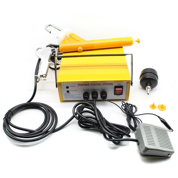 220V Portable Electrostatic Powder Coating system Paint spray Gun Sprayer 25 NS