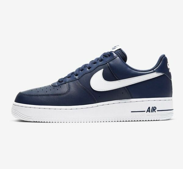 Nike Air Force 1 '07 Midnight Navy Blue White CJ0952-400 New Men Shoes All Sizes