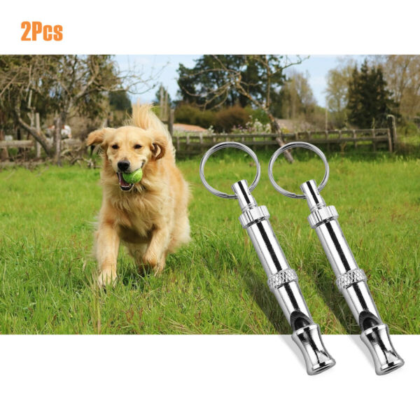 2 x Dog Training Whistle UltraSonic Obedience Stop Barking Pet Puppy Sound Pitch $5.89
