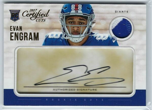 2017 Panini Certified Cuts Evan Engram Rookie RC Patch Auto 299