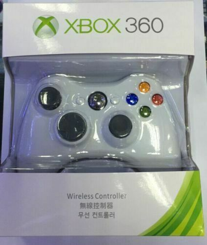Wireless Video Game Controller for Microsoft Xbox 360 White NEW US Stock