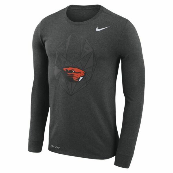 Oregon State Beavers Men#x27;s Nike Football Icon Long Sleeve Shirt NWT XL