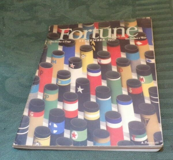 FORTUNE MAGAZINE SEPTEMBER 1937 ALL ABOUT SHIPPING PORTS UNIONS SHIPS MORE