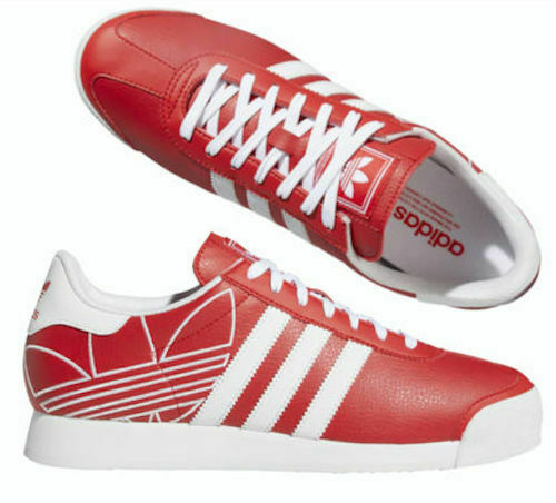 New adidas Originals Samoa Mens red white classic athletic sneaker all sizes