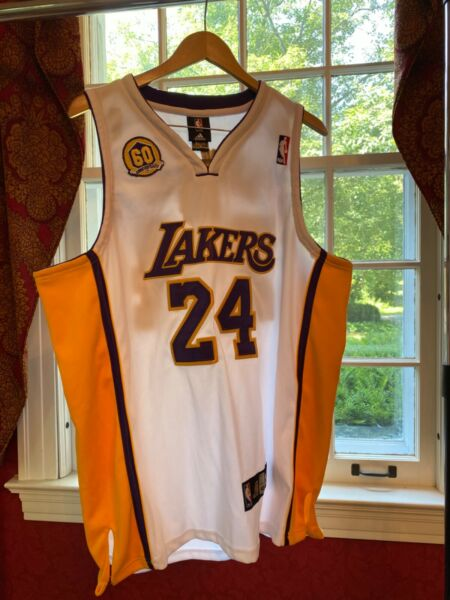 Authentic Adidas Kobe Bryant Los Angeles Lakers 60th Jersey Men Sz 48 XL Patch