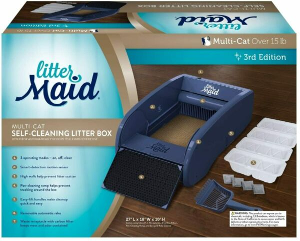NEW Multi-Cat Self-Cleaning Litter Box Automatic Scooping Kitten Multiple Pet $94.99