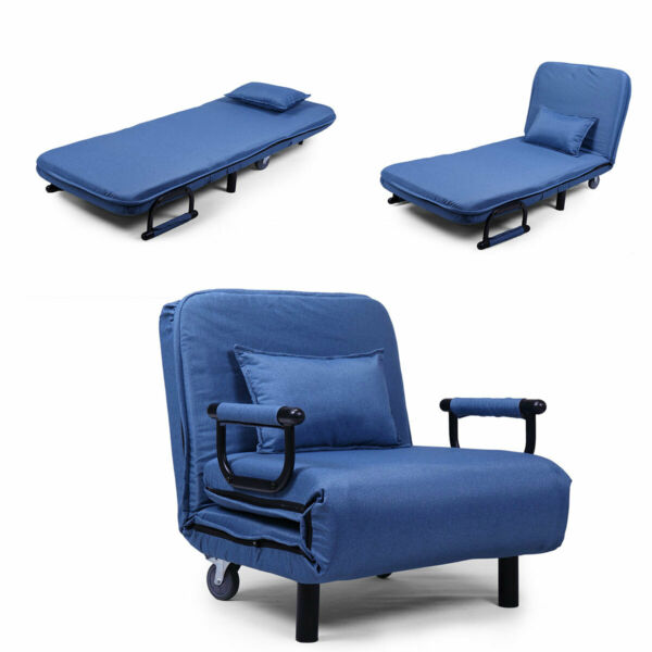 Bed Sofa Folding Arm Chair Width Convertible Sleeper Recliner Lounge New $109.99