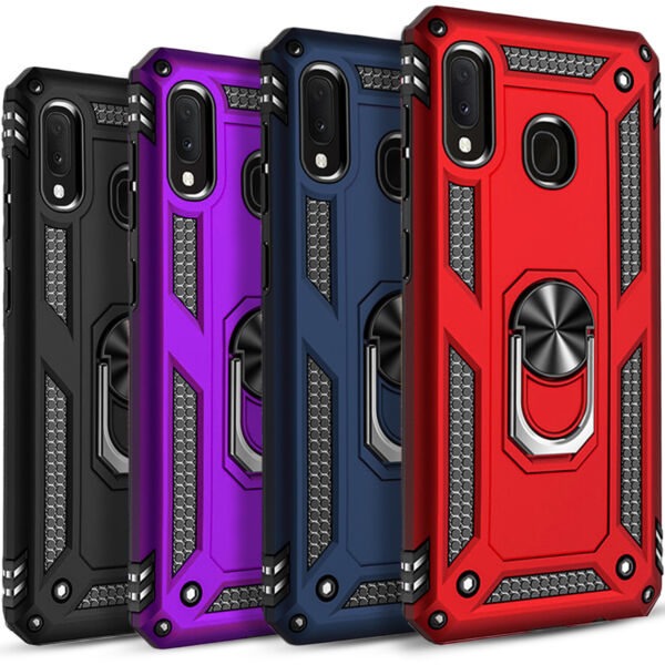For Samsung Galaxy A20 Case Ring Kickstand Cover Tempered Glass Protector $9.99