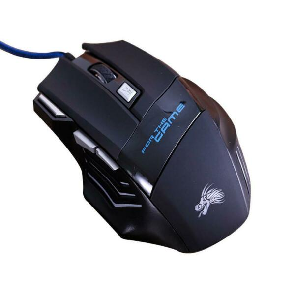 Gaming Mouse 7 Button USB Wired LED Breathing Fire Button 3200 DPI Laptop PC