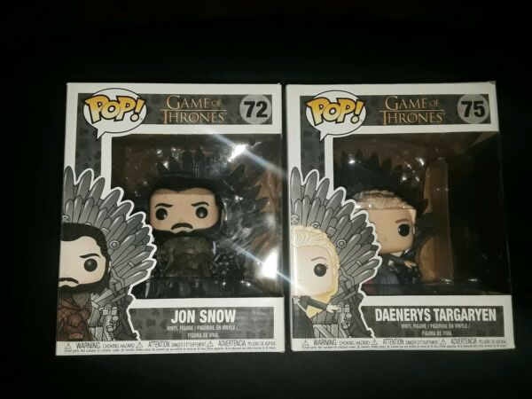 Funko Pop Figures John Snow amp; Dragon Queen Brand New Extra Large Size 2019