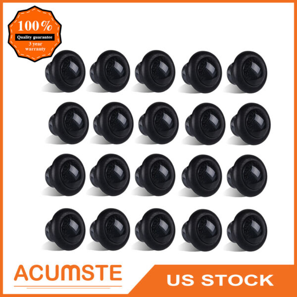 20X Truck Trailer 3 4quot; Amber Round Led Light Marker ClearanceGrommet Smoke Lens $25.99