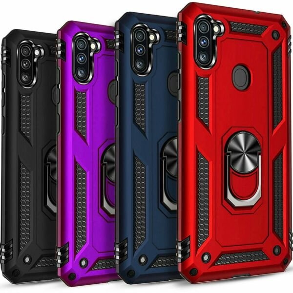 For Samsung Galaxy A11 Case Ring Kickstand Cover Tempered Glass Protector $9.99