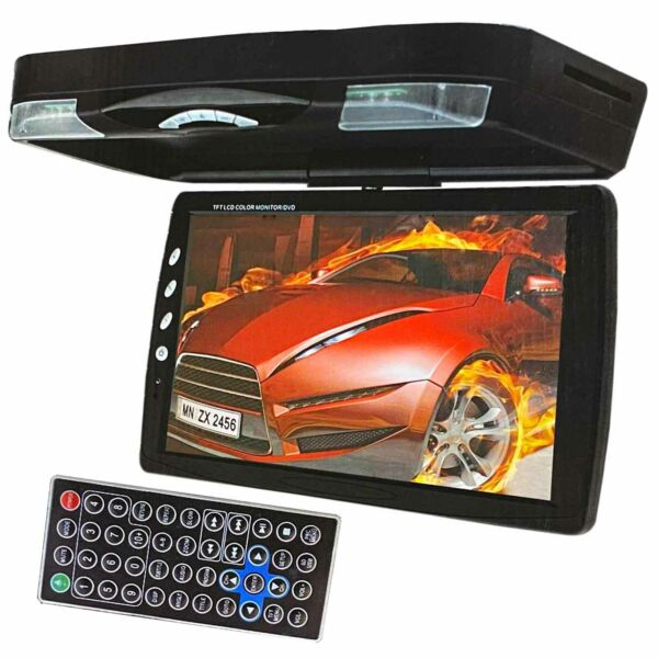 NEW XtremeVsion 15.1quot; TFT LCD Car Roof Mount Flip Down DVD SD Monitor IR Black $149.99