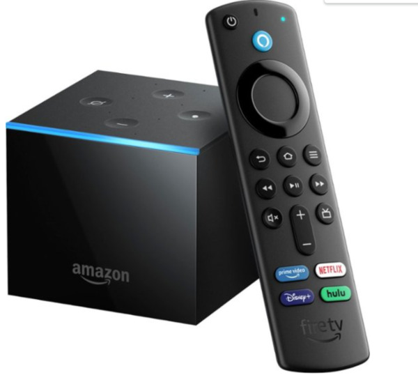 Fire TV Cube with Alexa and 4K Ultra HD and Alexa Voice Remote 2nd Gen