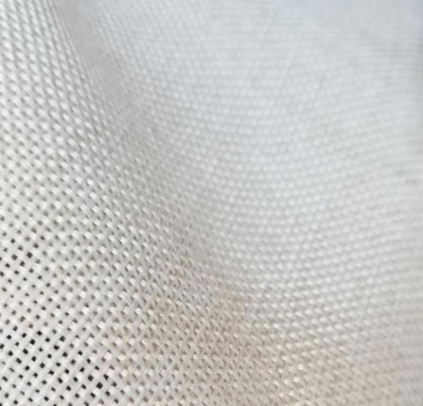 Ivory Polyester Faux Burlap Fabric 58quot; 60quot; by the yard Ivory color Polyburlap