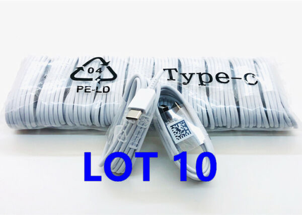 10x Lot Type C USB Data Fast Charger Cable for Samsung Galaxy S8 S9 S10 NOTE9 N8