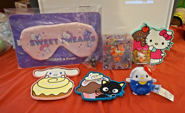 HELLO KITTY Sanrio Lot of 8 Tokidoki Figure Cutie Beans Loot Crate Items more