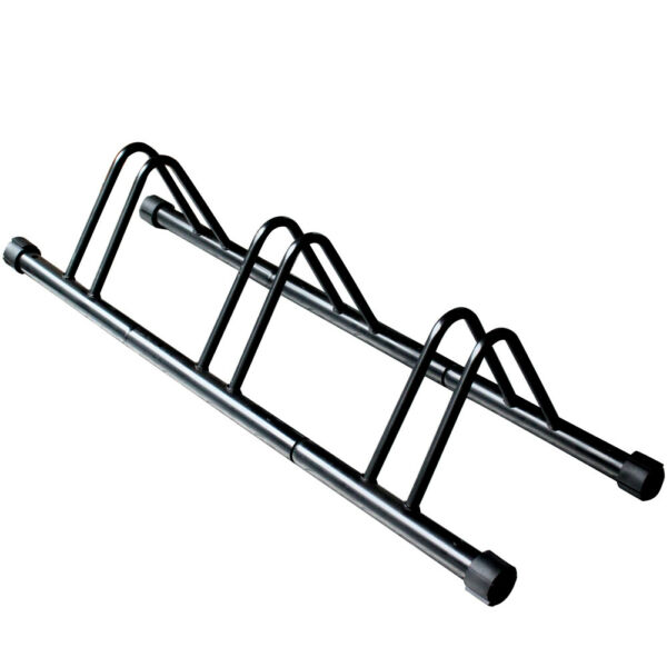 easy setup 3 Bike Bicycle Floor Parking rack Storage Stand wheel rack USA $74.39