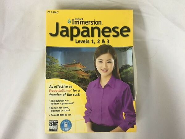 Instant Immersion for PC amp; Mac Japanese Lessons 1 2 amp; 3 $9.99