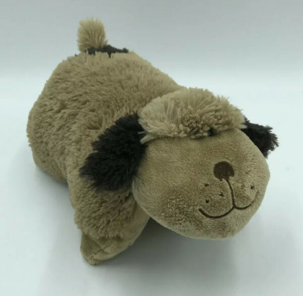 Dog Pillow Pets Pee Wees Plush Brown Dog Fluffy Toy 11quot; 8 $17.79