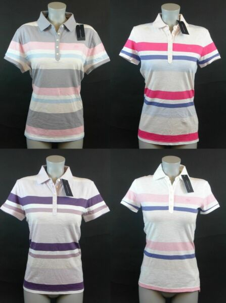 Tommy Hilfiger Women#x27;s Pastel Striped Polo $14.99