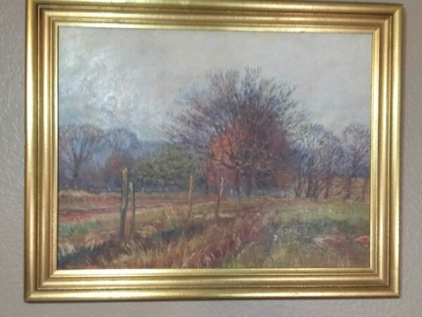 ORIGINAL ANTIQUE OIL PAINTING1921 LISTED ARTIST William Bradford GreenHTF