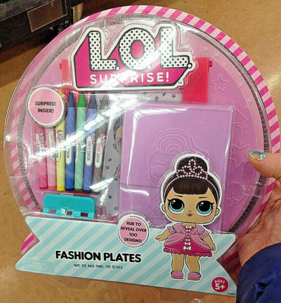 NEW! LOL Surprise! Fashion Plates Collectible Coloring Kids Toy Doll Design Gift
